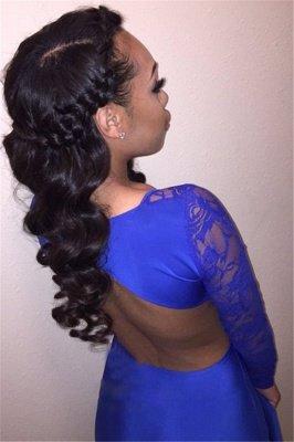 Stylish Round Neck Long Sleeves Mermaid Prom Dress_5