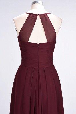 Elegant Princess Chiffon Halter V-Neck Sleeveless Floor-Length Bridesmaid Dress with Ruffles_7