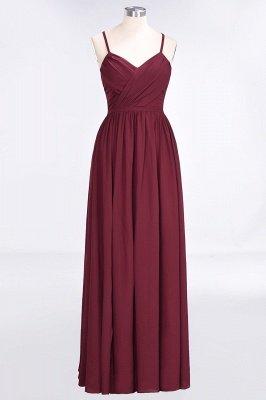 Elegant Princess Chiffon Spaghetti-Straps V-Neck Sleeveless Floor-Length Bridesmaid Dress with Ruffles_1