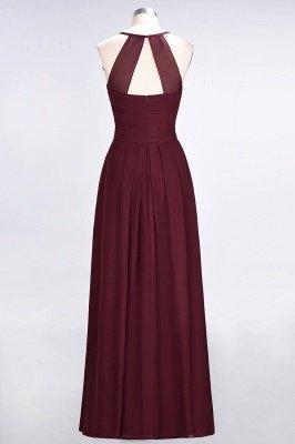 Elegant Princess Chiffon Halter V-Neck Sleeveless Floor-Length Bridesmaid Dress with Ruffles_3
