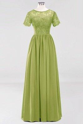 A-line Chiffon Lace Jewel Short-Sleeves Floor-length Bridesmaid Dress_32
