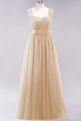 Chiffon Sweetheart Straps Sleeves Floor-Length Bridesmaid Dresses with Ruffles_14