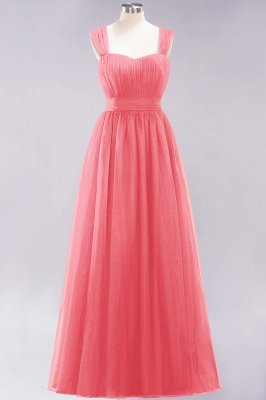 Chiffon Sweetheart Straps Sleeves Floor-Length Bridesmaid Dresses with Ruffles_7
