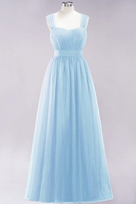 Chiffon Sweetheart Straps Sleeves Floor-Length Bridesmaid Dresses with Ruffles_22