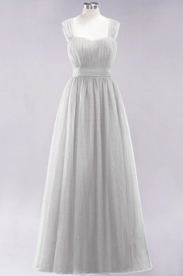 Chiffon Sweetheart Straps Sleeves Floor-Length Bridesmaid Dresses with Ruffles_29