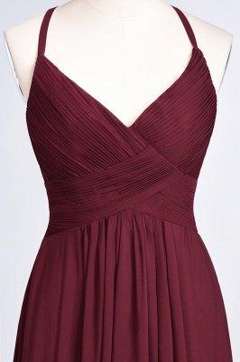 Elegant Princess Chiffon Spaghetti-Straps V-Neck Sleeveless Floor-Length Bridesmaid Dress with Ruffles_38