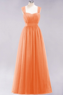 Chiffon Sweetheart Straps Sleeves Floor-Length Bridesmaid Dresses with Ruffles_15