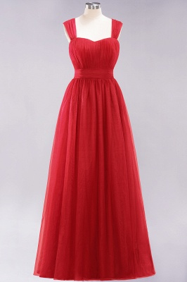 Chiffon Sweetheart Straps Sleeves Floor-Length Bridesmaid Dresses with Ruffles_8