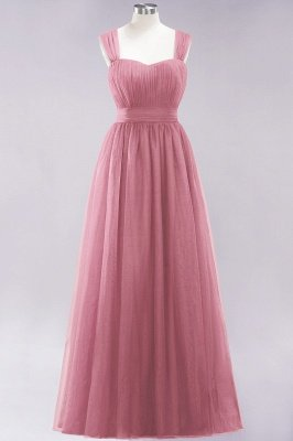 Chiffon Sweetheart Straps Sleeves Floor-Length Bridesmaid Dresses with Ruffles_6