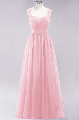 Chiffon Sweetheart Straps Sleeves Floor-Length Bridesmaid Dresses with Ruffles_3