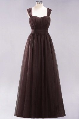 Chiffon Sweetheart Straps Sleeves Floor-Length Bridesmaid Dresses with Ruffles_11