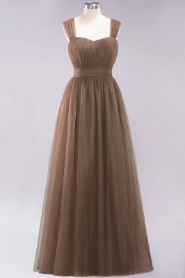 Chiffon Sweetheart Straps Sleeves Floor-Length Bridesmaid Dresses with Ruffles_12