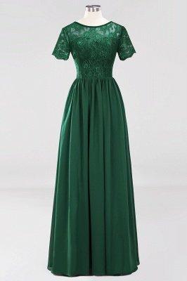 A-line Chiffon Lace Jewel Short-Sleeves Floor-length Bridesmaid Dress_30