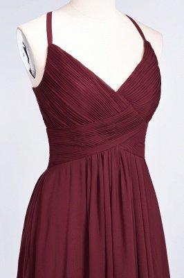 Elegant Princess Chiffon Spaghetti-Straps V-Neck Sleeveless Floor-Length Bridesmaid Dress with Ruffles_39
