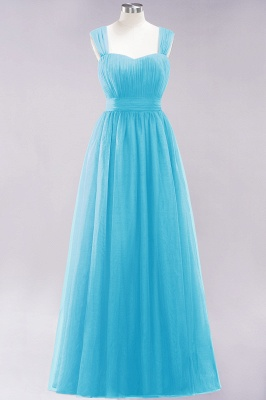 Chiffon Sweetheart Straps Sleeves Floor-Length Bridesmaid Dresses with Ruffles_23