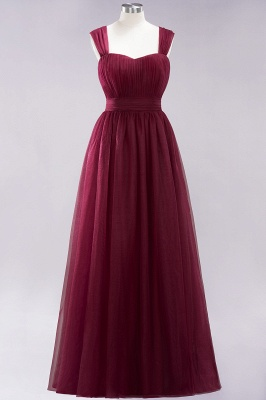 Chiffon Sweetheart Straps Sleeves Floor-Length Bridesmaid Dresses with Ruffles_10