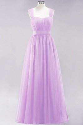 Chiffon Sweetheart Straps Sleeves Floor-Length Bridesmaid Dresses with Ruffles_38