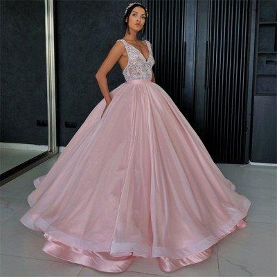Charming Appliques V-Neck Sleeveless Prom Dress_3