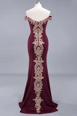 Elegant Mermaid Off-The-Shoulder Floor-Length Mermaid Appliques Zipper Prom Dress_5