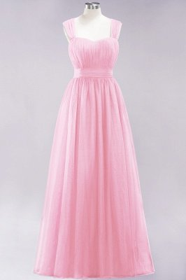 Chiffon Sweetheart Straps Sleeves Floor-Length Bridesmaid Dresses with Ruffles_4