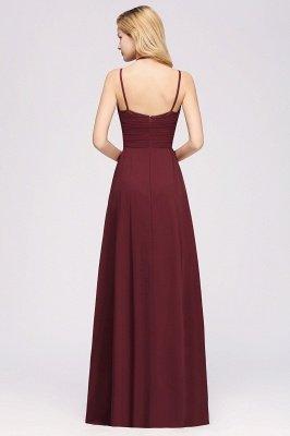 A-line Chiffon Spaghetti Straps Sleeveless Ruffles Floor-Length Bridesmaid Dresses_23
