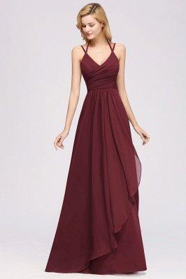 A-line Chiffon Spaghetti Straps Sleeveless Ruffles Floor-Length Bridesmaid Dresses_26