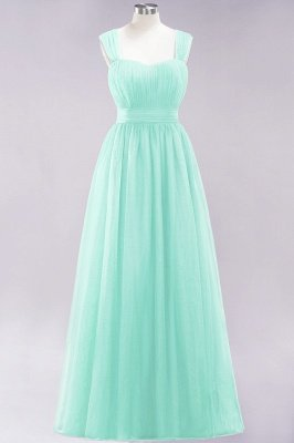 Chiffon Sweetheart Straps Sleeves Floor-Length Bridesmaid Dresses with Ruffles_43