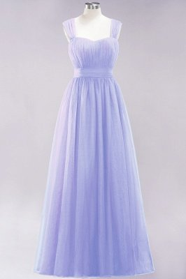 Chiffon Sweetheart Straps Sleeves Floor-Length Bridesmaid Dresses with Ruffles_44