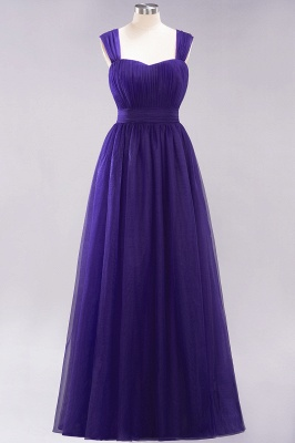 Chiffon Sweetheart Straps Sleeves Floor-Length Bridesmaid Dresses with Ruffles_18