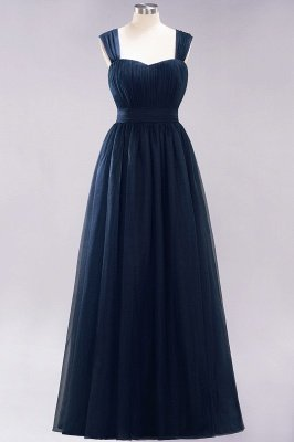 Chiffon Sweetheart Straps Sleeves Floor-Length Bridesmaid Dresses with Ruffles_27