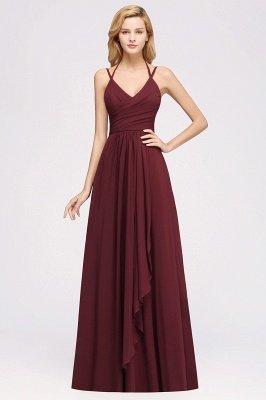 A-line Chiffon Spaghetti Straps Sleeveless Ruffles Floor-Length Bridesmaid Dresses_22