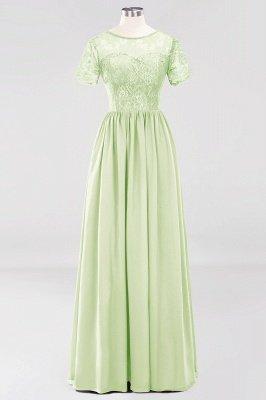 A-line Chiffon Lace Jewel Short-Sleeves Floor-length Bridesmaid Dress_33