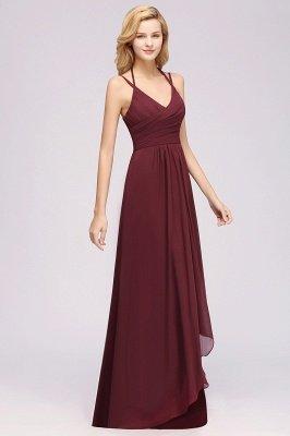 A-line Chiffon Spaghetti Straps Sleeveless Ruffles Floor-Length Bridesmaid Dresses_24
