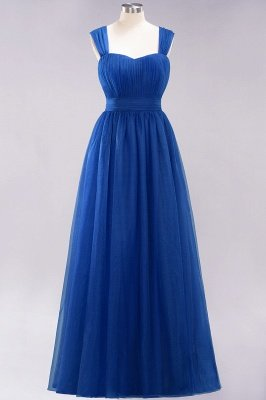 Chiffon Sweetheart Straps Sleeves Floor-Length Bridesmaid Dresses with Ruffles_25
