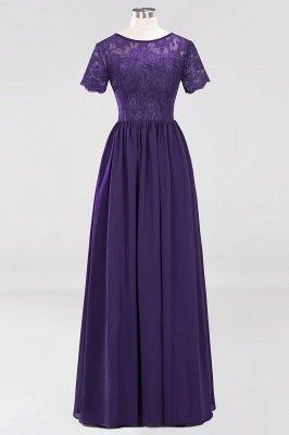 A-line Chiffon Lace Jewel Short-Sleeves Floor-length Bridesmaid Dress_18