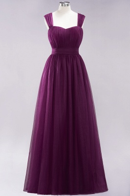 Chiffon Sweetheart Straps Sleeves Floor-Length Bridesmaid Dresses with Ruffles_19