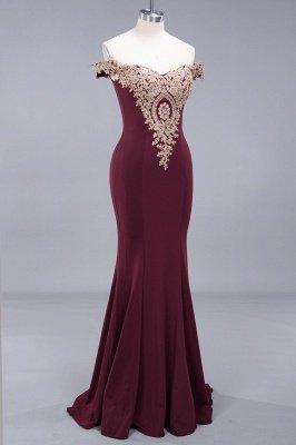 Elegant Mermaid Off-The-Shoulder Floor-Length Mermaid Appliques Zipper Prom Dress_4