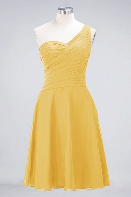 Elegant Princess Chiffon One-Shoulder Sweetheart Sleeveless Knee-Length Bridesmaid Dress with Ruffles_16