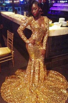 Cheap Long  Mermaid Scoop Sweep Train Prom Dresses_1
