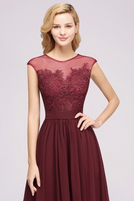 A-line Chiffon Lace Jewel Sleeveless Floor-Length Bridesmaid Dresses with Appliques_6