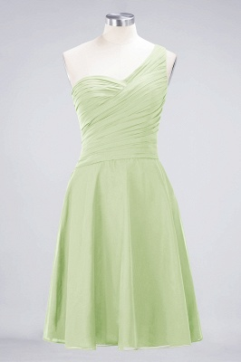 Elegant Princess Chiffon One-Shoulder Sweetheart Sleeveless Knee-Length Bridesmaid Dress with Ruffles_33