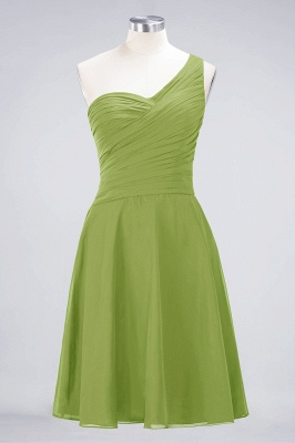 Elegant Princess Chiffon One-Shoulder Sweetheart Sleeveless Knee-Length Bridesmaid Dress with Ruffles_32