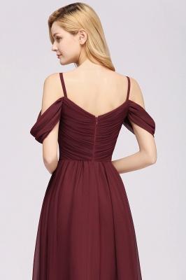 Chiffon V-Neck Spaghetti Straps Short-Sleeves Floor-Length Bridesmaid Dresses with Ruffles_7