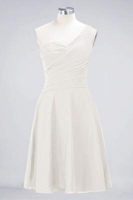 Elegant Princess Chiffon One-Shoulder Sweetheart Sleeveless Knee-Length Bridesmaid Dress with Ruffles_2