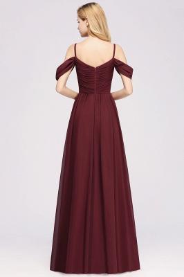 Chiffon V-Neck Spaghetti Straps Short-Sleeves Floor-Length Bridesmaid Dresses with Ruffles_2