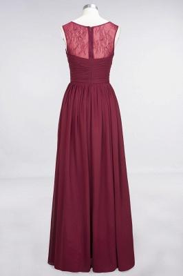 Elegant Princess Chiffon Tulle Lace Scoop Sleeveless Floor-Length Bridesmaid Dress with Ruffle_5