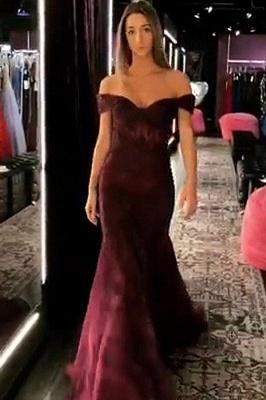 Mermaid Off-the-Shoulder Sweetheart Long Prom Dress_1