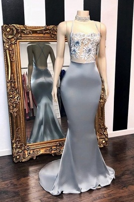Sequins Sleeveless Mermaid Long Prom Dresses Cheap | Glitter New Arrival Halter Red Evening Gowns_1