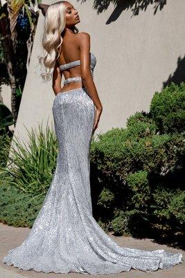 Charming Sweetheart Sleeveless Mermaid Front Split Prom Dress_3
