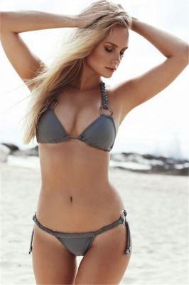 Halter Bandage Swimwear Triangle Two Piece Sexy Bikini Set_7